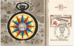 Carte-maximum Rallye PHILATEC 1964 AUTRICHE PONTARLIER PARIS