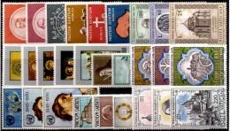 9 Set Benedikt 1965 Vatikan 481/2,538/3,550/2,553/5,569/1,581/5,618/0,629/1+643/5 ** 5€ Papst Kloster Church Of Vaticano - Vatican