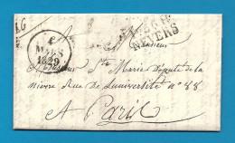 Nièvre - Nevers Pour Louis Marie De Ste Marie, Député De La Nièvre; LAC De 1829 - Marcophilie (Lettres)