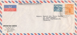 Pakistan Air Mail Cover Sent To Denmark 26-4-1974 - Pakistan