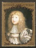 TCHAD    -    Aéro   -   Louis XIV Enfant Par  Pierre Mignard   Oblitéré. - Ciad (1960-...)