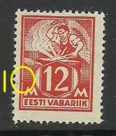 ESTLAND Estonia 1925 Michel 57 + Abart ERROR MNH - Estonie