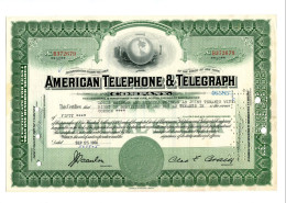 ATT - American Telephone And Telegraph; Less Than 100 Shares - Electricity & Gas