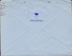 Great Britain 'ATLANTIDE' (Crown Cachet) LONDON 1937 Cover Brief Denmark GV. Stamp (2 Scans) - Briefe U. Dokumente