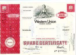 WESTERN UNION; 100 Common Shares - Electricity & Gas