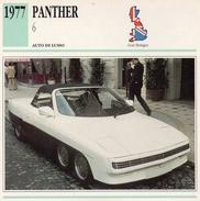 """Auto Da Collezione """"Panther  1977   6"""" (Gran Bretagna) - Motori"""