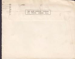 Great Britain THE ELITE WOOLLEN COMPANY,  LONDON 1937 Cover Brief Denmark 2½d. EDVIII. (2 Scans) - Briefe U. Dokumente