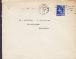 Great Britain MIDLAND BANK Ltd. Foreign Branch MANCHESTER 1936 Cover Brief Denmark 2½d. EDVIII. Stamp (2 Scans) - Briefe U. Dokumente