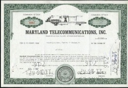 MARYLAND TELECOMMUNICATIONS; Common Stock - Electricité & Gaz