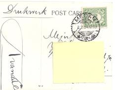Stamp -timbre- Nederlandsch Indie On A Postcard 1900-1910? Gemeente Javabank - Netherlands Indies