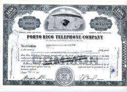 PORTO RICO TELEPHONE COMPANY; Less Than 100 Shares - Electricité & Gaz