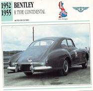 """Auto Da Collezione """"Bentley  1952   R Type Continental"""" (Gran Bretagna) - Motori"""