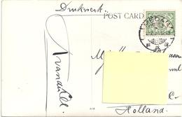 Stamp -timbre- Nederlandsch Indie On A Postcard 1900-1910? - Indes Néerlandaises
