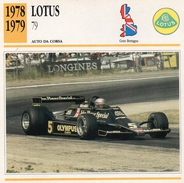 """Auto Da Collezione """"Lotus  1978   79"""" (Gran Bretagna) - Motori"""