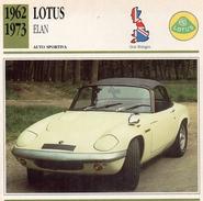 """Auto Da Collezione """"Lotus  1962   Elan"""" (Gran Bretagna) - Motori"""