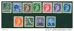 """-Canada-1954- """"Year Set"""" MNH (**) - 1952-.... Reign Of Elizabeth II"""