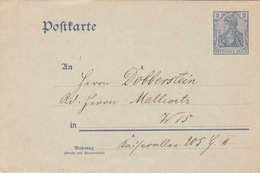DEUTSCHES REICH 1902? - 2 Pfg Ganzsache Auf Ungelaufener Pk Nach W 15