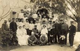 Carte-Photo Militaires Et Infirmières écrite De MARNIA Algérie En 1913   2 Scans - Algeria