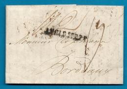 Angleterre -LONDRES / LONDON Pour CLOSSMANN à BORDEAUX (Gironde) . 1816 - Postmark Collection (Covers)