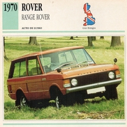 """Auto Da Collezione """"Rover  1970   Range Rover"""" (Gran Bretagna) - Motori"""