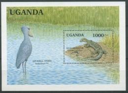 Uganda 1991 Feuchtgebiete Nilwaran Schuhschnabel Block 127 Postfrisch (C23523) - Uganda (1962-...)