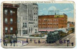 - Empire State Express TPark, New York, 1898, écrite, Craquelure, Usagé, épaisse, écrite, 1918, Scans. - New York City