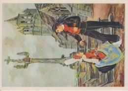 C P S M  HOMUALK EN PARCOURANT LA BRETAGNE ST GUENOLE NOTRE DAME DE LA JOIE SÉRIE 1950  N 15 - Homualk