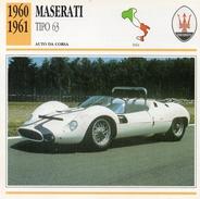 """Auto Da Collezione """"Maserati  1960  Tipo 63"""" (Italia) - Motori"""