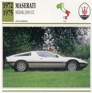"""Auto Da Collezione """"Maserati  1972  Merak 2000 GT"""" (Italia) - Motori"""