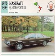 """Auto Da Collezione """"Maserati  1976  Quattroporte III"""" (Italia) - Motori"""