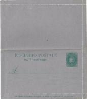 REGNO ITALIA BIGLIETTO POSTALE SERIE BIGOLA C. 5 - 1889 - CATALOGO FILAGRANO B1 - NUOVO ** - Entiers Postaux
