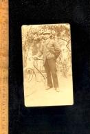 Photographie Carte De Visite CDV :  Cycliste  Vélo Cycle Bicyclette Vers 1900 Bicycle - Ciclismo
