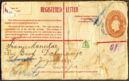 AUSTRALIA  - REGISTERED  LETTER  5d - To Yugoslav SMS Dalmacija  - 1935