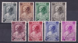 BÉLGICA 1937 -  Serie Completa Usada Yvert Nº 458/465