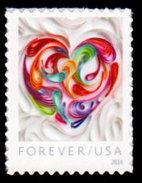 USA, 2016 Scott #5036, Quilled Paper Heart, Forever Single, MNH, VF - Etats-Unis