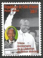 Côte D'Ivoire 2000 President Nelson Mandela Nobel Peace Prize 1993 Mint MNH - Côte D'Ivoire (1960-...)