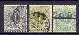 Belgien Nr.39/41         O  Used       (420) - 1869-1888 Lion Couché (Liegender Löwe)
