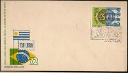 Uruguay &  FDC EXFIBRA, Exposição Filatélica, Conjunta Brasil, Rio De Janeiro 1972 (388)