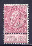 Belgien Nr.67 X Dünnes Papier         O  Used       (430) - 1893-1900 Schmaler Bart