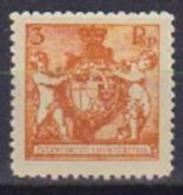 LIECHTENSTEIN 1921 STEMMA UNIF. 46 B MLH VF