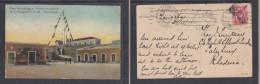 "Mozambique 1st Anniv Of Republic 1911, ""Posto Semaphorico"" Used 1913 ZANZIBAR > SALISBURY,  BEIRA Transit - Mozambique"