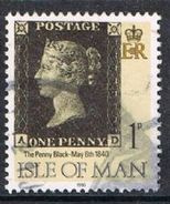 Isle Of Man SG442 1990 Penny Black 1p AD Good/fine Used [12/12545/25D]