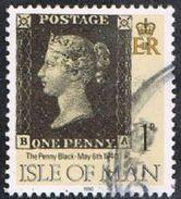 Isle Of Man SG442 1990 Penny Black 1p BA Good/fine Used [12/12547/25D]