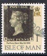 Isle Of Man SG442 1990 Penny Black 1p BB Good/fine Used [12/12548/25D]