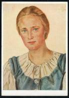 7409 - Alte Künstlerkarte - Trachten Ostpreußische Bauerntochter - W. Willrich - VDA - TOP - P 14 Nr. 4 - Illustrators & Photographers