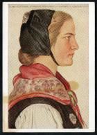 7411 - Alte Künstlerkarte - Trachten Holsteinische Bauerntochter - W. Willrich - VDA  - P 14 Nr. 6 - Illustrators & Photographers