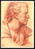 7424 - Alte Künstlerkarte - Trachten Steirische Bergbauerntochter - W. Willrich - VDA  - P 14 Nr. 23 - TOP - Illustrators & Photographers