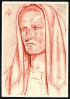 7431 - Alte Künstlerkarte - Trachten Burgenländische Bäuerin - W. Willrich - VDA  - P 14 Nr. 34 - TOP - Illustrators & Photographers