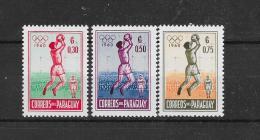 Paraguay 1960 Y&T Nr° 572,573,574 ** - Paraguay
