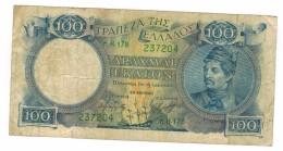 Greece, 100 Apax. 1944,   VG. Free Ship. To USA. - Greece